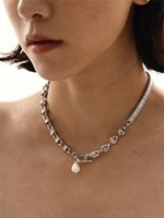 Chokers Timeless Wonder Glam Natural Pearl Zirconia Choker Necklace Aesthetics Jewelry Kpop Designer Party Goth Egirl Emo Date Rare 7521