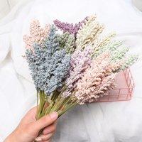 6 adet / paket Mini Yapay Vanilya Spike Faux Duvar Bitki Sahte Çiçek Köpük Tahıllar Buket Düğün Dekor Malzemeleri Sahne Sahne