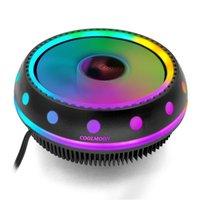 Cool Moon Moon Ufox Радиатор Вентилятор Настольные компьютеры Радиаторы CPU Цвет Свет молчаливый