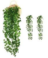 Dekorative Blumen Kränze 2 Bündel Efeu Blätter Haus Garten Wanddekoration Outdoor Eyificial Rebs Gefälschte Hängende Rebe Pflanze Girlande