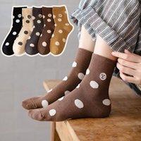 Socks & Hosiery Women 2021 Autumn Cartoon Funny Furry Dots Cotton Mid-Tube Animal Long Korean Fashion Embroidery Kwaii