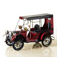 الكائنات الزخرفية التماثيل خمر المعادن نموذج سيارة الكلاسيكية الحديد المطاوع الحرف اليدوية الصفيح القديم britlotion سطح المكتب الحلي