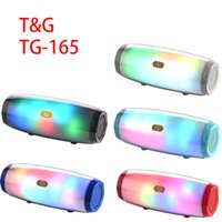 TG165C Wireless Music Speaker Center Bluetooth Speakers Powerful HIFI Stereo For Mobile Phone PC Computer with LED Light Home Theater