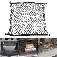 Car Organizer 70*70cm Trunk Net Boot String Mesh Elastic Nylon Rear Back Cargo Storage Luggage Holder