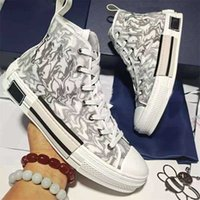 Moda Scarpe Casual Dupe B22 B23 AAAAA AAAAA High Low Top Top stampato Alfabeto Canvas Sneakers Donne Mens Stilista Scarpa Oblique Trainer Ricamo 1: 1 Sneaker Box