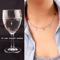 Collier pendentif STAR en acier inoxydable SUQI Femme XIA non décolorée design minoritaire clavicule chaîne or