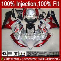 Kroppsarbete för Suzuki GSXR-1000 Lager Jomo Red K5 GSXR1000 05 06 Kropps kit 11HC.105 GSX R1000 GSXR 1000 2005 2006 GSX-R1000 05 06 FAIRING + COWL