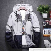 Spring and Autumn New Mens Man Jacket Youth Korean Style Slim-Fit Hoodie Coat Outdoor Sports and Casual Windcheater
