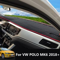 Для VW Polo MK6 2018 2019 2020 Anti-Slip Slip Mat Dashboard Cover Pad Sunshade Dashmat Protect Carpet Dash Автомобильные аксессуары