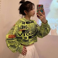 Felpa Hip Hop Houzhou Felpa in cotone Autumn Moda Felpe con cappuccio stile coreano sciolto manica lunga streetwear sexy pullover donne