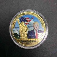 Moda Sanat El Sanatları Donald Trump Hatıra Paraları ABD Başkanı Insignia Metal Ev Dekorasyonu Toptan