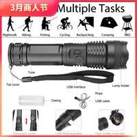 LED XHP50.2 ULTRA Luminoso più potente torcia elettrica USB Zoom Torch XHP50 18650 o 26650 Batteria ricaricabile 174 W2