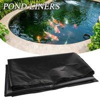 الظل الأسود الأسماك بركة بطانة القماش المنزل حمام سباحة عززت المناظر الطبيعية الثقيلة للماء حديقة حوض بطانات 5 الحجم