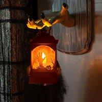 سلاسل شنقا فانوس هالوين الصمام اليقطين قلعة ضوء خمر البلاستيك الاطفال ساحرة مصباح