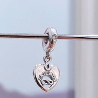 2021 Primavera S925 Sterling Silver Friends Forever Heart Dangle Charm Bead Adatti Bracciali europei Pandora Bracciali Pendenti Collane