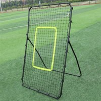 Professionelle Outdoor-Fußball-Baseball-Training professioneller Galvanized Return Bounce Training Steel Pipe Rebound Fussball / Baseballziel Schwarz
