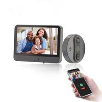 Video-Tür-Telefone Smart Wifi-Türklingel-Peephole-Viewer Home PIR-Bewegungserkennung Sicherheitsmonitor Tuya-App-Fernbedienung