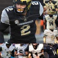Personalizado Vanderbilt Commodores College Futebol Jerseys Chris Williams Deuce Wallace Keyon Brooks 32 Sarah Fuller Jay Cutler Riley
