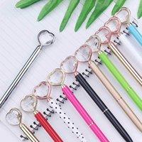 Ballpoint Pens Forma de corazón Crystal Diamond Pen Ball Office Supplies Boda Regalo Tinta Black Blue WJ017 E61A