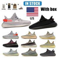 En EE.UU. Kanye Correr Zapatos de primera calidad Yecheil Cinder Static Clay Cail Light Cream Blanco Negro Rojo Zebra Verdadera Forma Sneakers Bádminton Hombres Tamaño 38-46