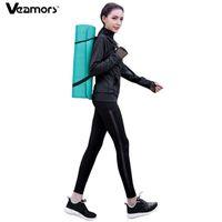 Veamors Женщины Йога набор спортивный костюм бегущая куртка йога брюки комплекты, эластичные фитнес спортивная одежда спортзал спортивные спортивные комплекты спортивные трекии