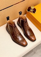 2021 High Quality Mens Ankle Boots Brand Design Comfortable Genuine Leather Party Wedding Shoes Male Casual Walking Short Boots Size 38-44