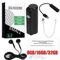 8 ГБ 16 ГБ 32 ГБ Q70 Мини портативный цифровой голосовой рекордер USB Professional HD шумоподавление записи Dictaphone Audio Recorder MP3-плеер