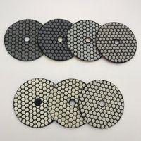 Almofada de polimento seco diamante 4 polegadas 100 mm de mármore granito pedra polimento roda polonês pad polidor almofada abrasivo disco 7 pçs / lote