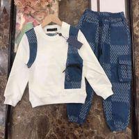 2021ss Fashiong Kış Seti Giyim Çocuk Takım Elbise Spor Desinger Marka Boys Hoodies Pantolon 2 Parça Uzun Kollu Pamuklu Çocuk Butik Giyim GERMET
