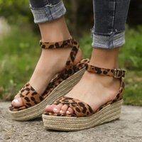 Platform Sandalet 2021 Moda Kadın Sandal Takozlar Ayakkabı Casual Kadın Peep Toe Siyah Platform Sandalet Dışında Ayakkabı 569