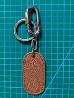 패션 매력 금 열쇠 고리 키 홀더 자동차 원격 키 갈색 가죽 키 링 가방 키 체인 상자