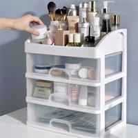 Makeup Organizer Box Cosmetic Drawer Transparent Table Drawer Dresser Cosmetic Box Skincare Shelf Jewelry Makeup Organizer 211023