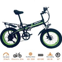 Elektrisches Fahrrad S9F Großhandel Fahrrad / elektrische 20-Zoll-Faltung 350W / 500W / 750W / 1000W 48V 10AH / 13AH Fettreifen