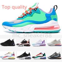 Nike Air Max 270 React Hyper Yeni Reaksiyon Parlak Menekşe Hiper Yeşim Elektro Yeşil Mavi Void Bauhaus Optik Lagün Açık Ayakkabı Erkekler Kadınlar Phantom Çok Renkli Sneakers