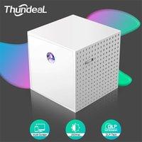 Proyector THUNDEAL T15 DLP para 1080p Vedio 3D Vedio Portátil Mini Home Cinema Pantalla Smartphone DRIGURANTING MULTICHEEN BEAMER 210609