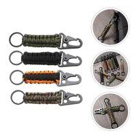 4PCS Carabiner Beychains Paracord Портативный для наружных шнуров, строп и webbing1