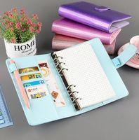 DHL A5 / A6 colorato creativo impermeabile festa favori macarons raccoglitore mano magro notebook shell sciolto foglia notepad diario cancelleria copertina ufficio scolastico