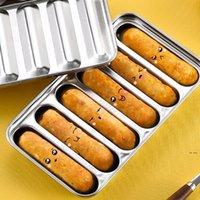 Outils de cuisine Saucisse Moule Moule 6 grilles Acier inoxydable DIY Ham Hot Dog Making Saucisses Ménage Cake Baking Tool Moules FWF9095
