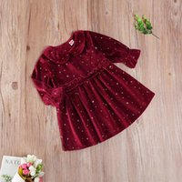Baby Girl' s Dress Print Round Neck Long Sleeve Back But...