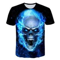 Estate 2020 Ultimo horror Skull T Shirt 3D Stampato Punk Rock Mens T-Shirt O-Neck Hip Hop Best-seller Manica corta Abbigliamento da uomo
