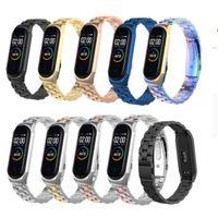 Roestvrijstalen polsband voor Xiaomi Mi Band 3 4 Algemeen Metalen horlogeband Smart Armband Miband 3 Riem Vervangbare Horlogebandjes