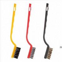 3 adet / takım Tel Fırça Seti Temizleme Fırça Aracı Metal Pirinç Naylon Temizleme Parlatma Pas Gaz Sobası Temizleme Fırçası Aracı HWF10401