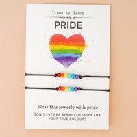 بوهو بيجو فام أوم rainbow فخر سوار rainbow lgbt حبل سوار مثلي الجنس فخر مجوهرات للنساء الرجال الصداقة هدية