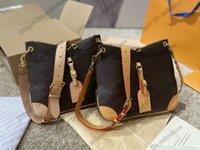 Odeon PM مم إمرأة حقيبة كتف جلدية Luxurys مصمم Crossbody Hobo مقبض حقائب يد حقيبة M45354 M45352