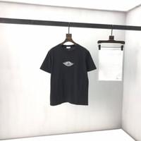2021 Europeia Última Primavera e Outono Estilo Quente Senhoras T-Shirt Casual All-Match Moda Paris Alfabeto Basquete Impressão Tee Preto