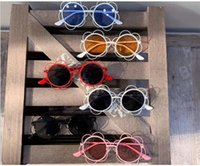 High Class Metal Sunshine Blue Pink Color Girls Boys Sunglasses Cute Parenting Style Sunflower Eyesglasses in 6 Colors