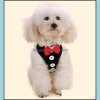 Supplies Home & Gardensmall Harness Fabric Dog Vest Evening Dress Butterfly Bow Tie Puppy Coat Leashes Summer Pet Apparel 12 Designs Lqpyw11