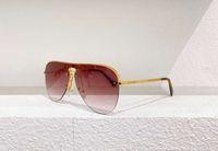 Стороны пилотные солнцезащитные очки 1469 золотая половина рамка розовый затененный Гафа де Соль мода Солнцезащитные очки оттенки UV400 Охраняющие очки с коробкой