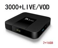 Abonnement 12 MOIS Kodu 3000 Canlı / VOD ET Lecteur Multimédia Android Set üstü Kutusu TX3Mini (2 + 16 Go) Pour La Fransa Arabe Avrupa