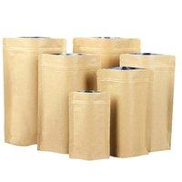 Kraftpapierbeutel Aluminium Folienbeutel Lebensmittel-Tee-Snack-Kaffee-Speicher wiederverschließbare Taschen Riechen-Proof-Paket